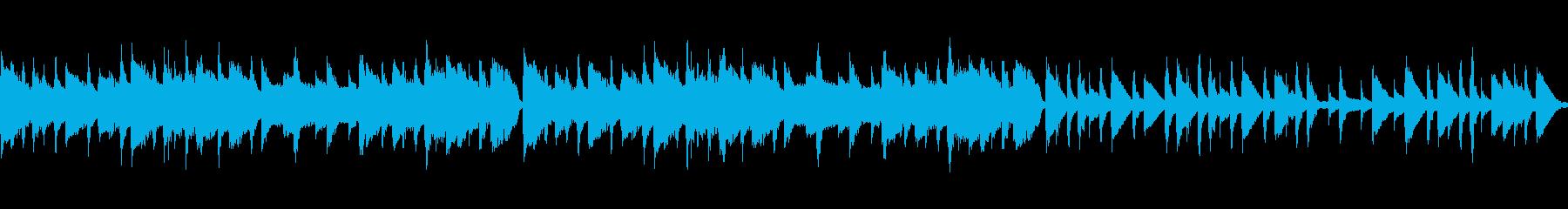 ゆったりと落ち着いたマリンバ童謡カバーの再生済みの波形