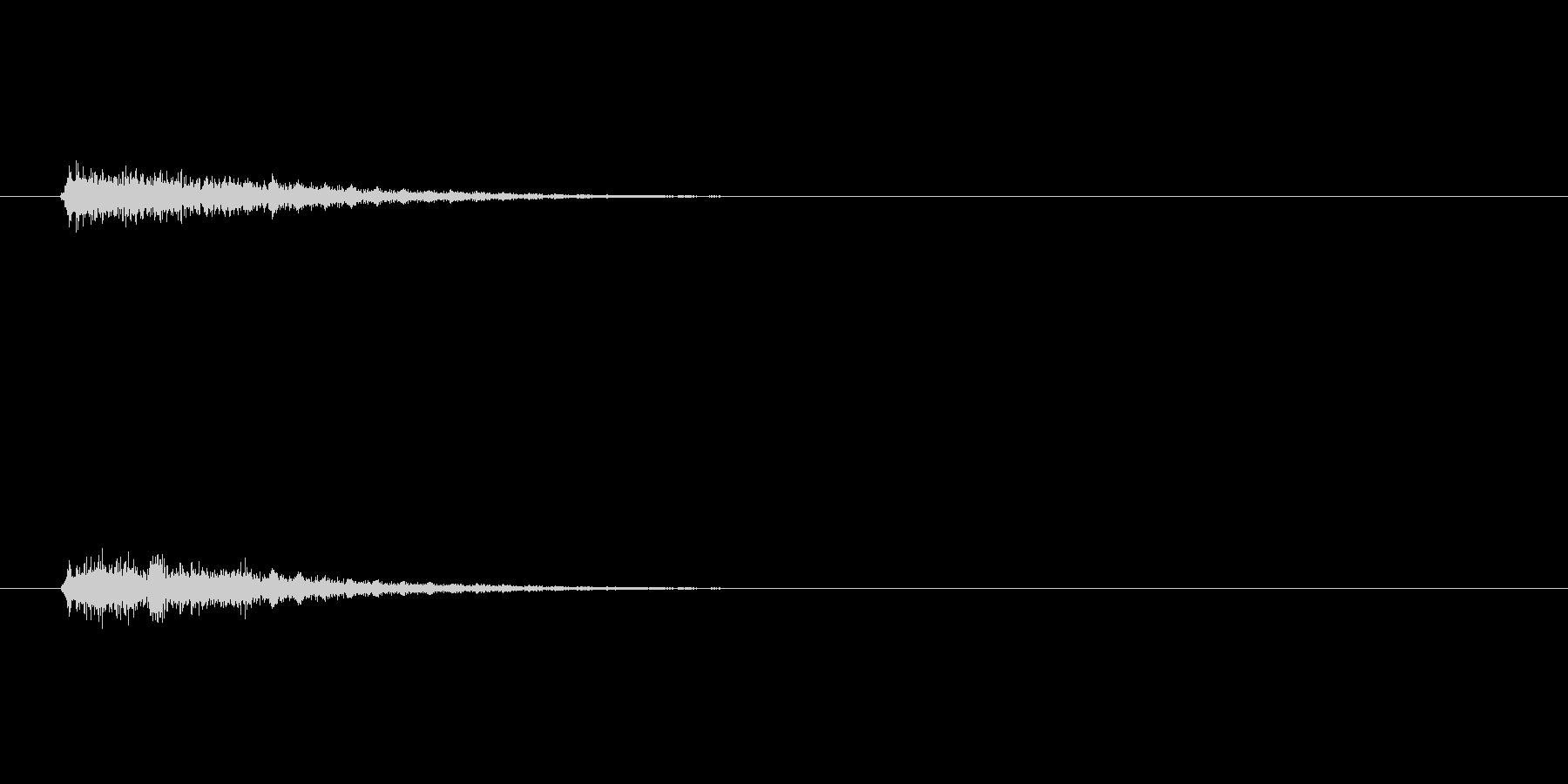 テロップの音・決定音・デュリリリーンの未再生の波形