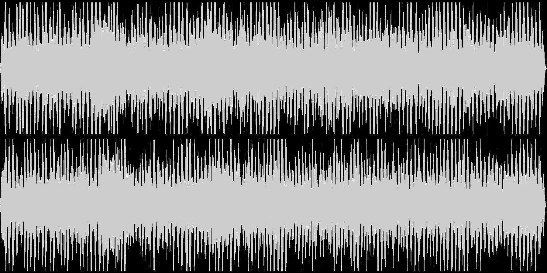 ザッパーン うねる荒波 迫力のステレオの未再生の波形