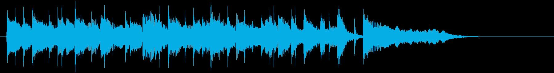 爽やかな曲調始まりをイメージするポップスの再生済みの波形