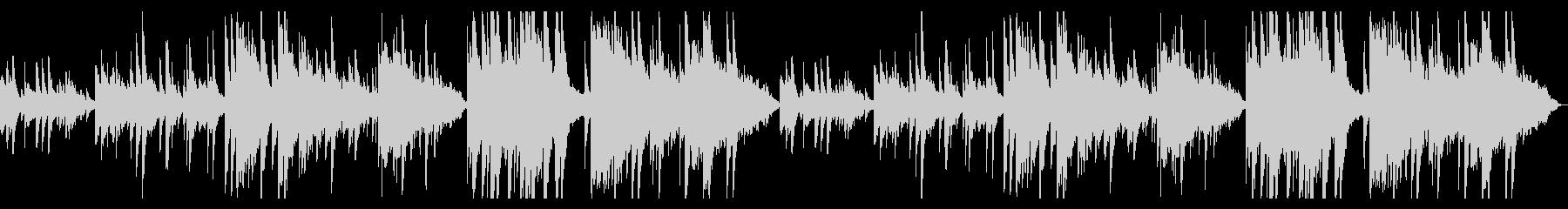 ピアノとオカリナの切ないBGMの未再生の波形