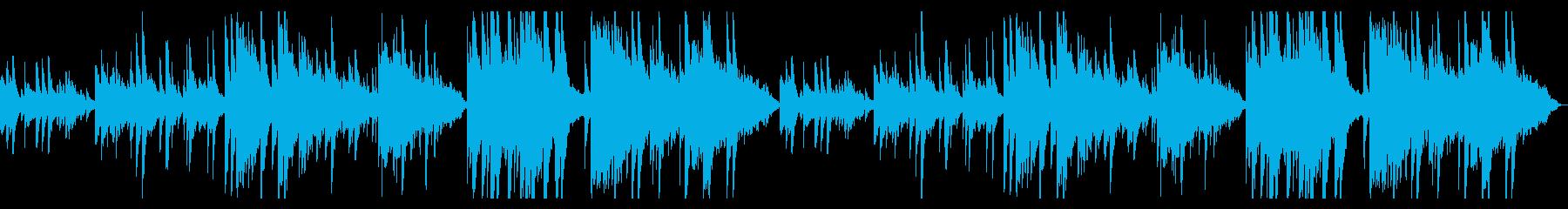 ピアノとオカリナの切ないBGMの再生済みの波形