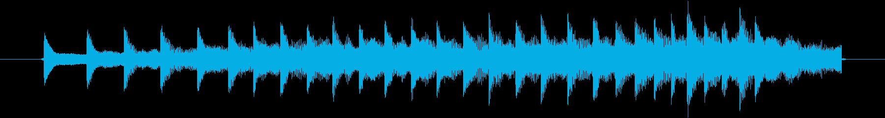 ぎりぎりと2本の鎖のこすれる音。の再生済みの波形