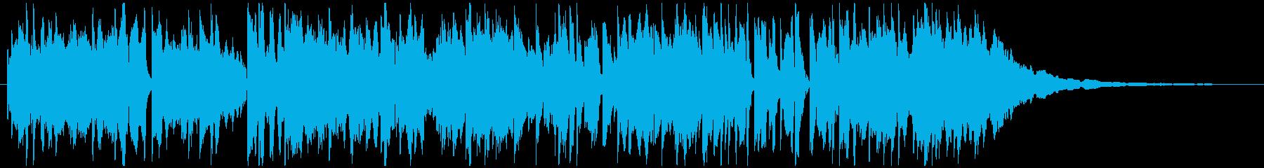 番組インターバル、すき間、ローズピアノの再生済みの波形