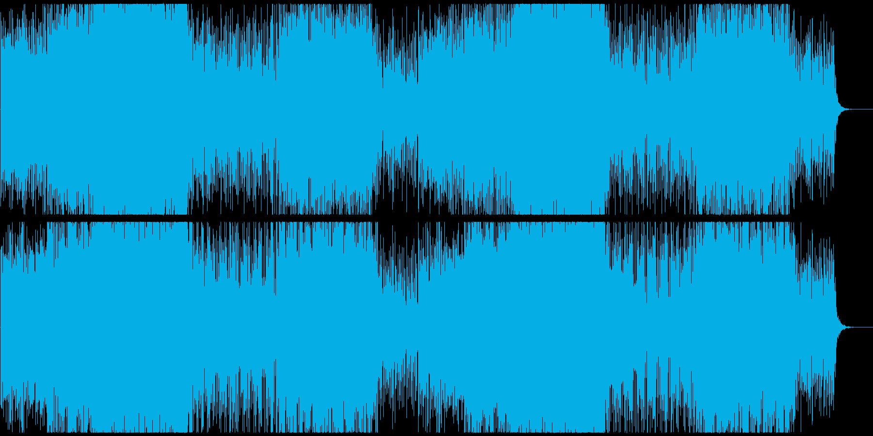 緊張 緊迫感のあるエレクトロの再生済みの波形