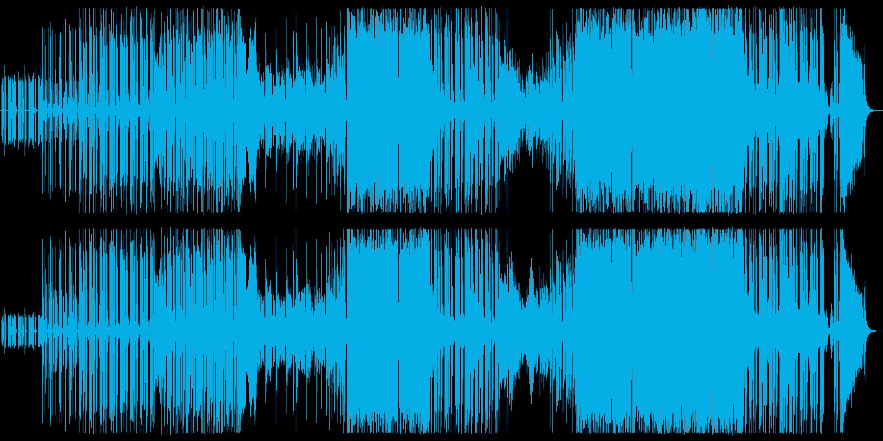 ダンサンブルなエピックロックの再生済みの波形