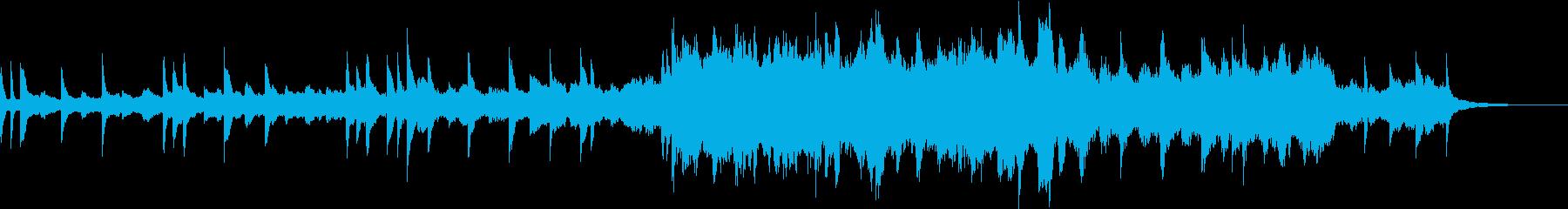 ピアノとストリングスの切ないバラードの再生済みの波形