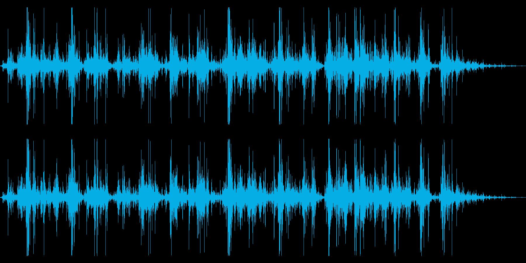 ジャラジャラジャラ(鈴の音)の再生済みの波形
