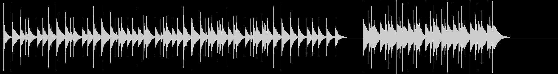 【木琴】動物やアートの短い映像向けの未再生の波形