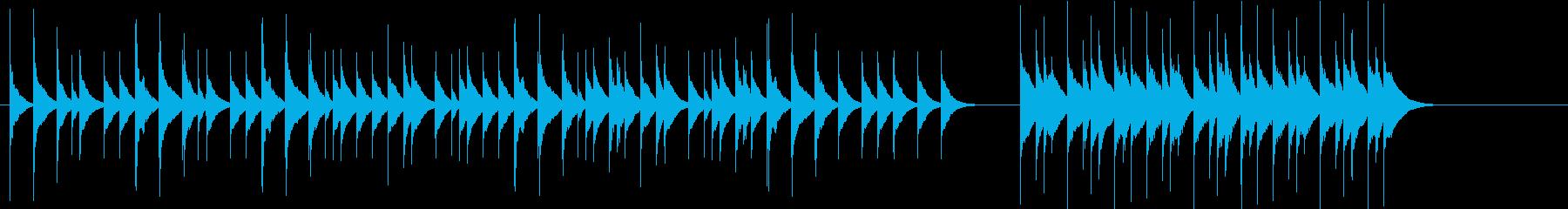 【木琴】動物やアートの短い映像向けの再生済みの波形