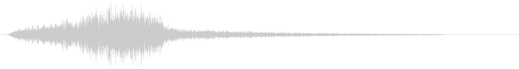 シューッというエアー音の未再生の波形