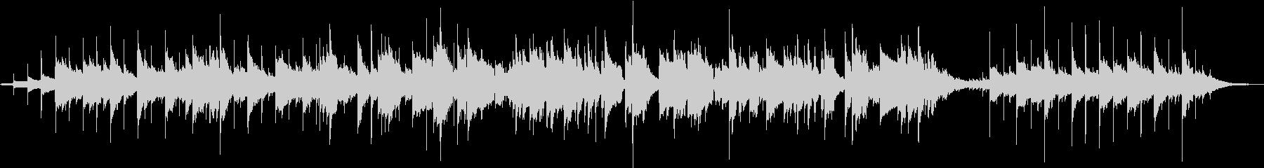 アコーステックギターの切ないBGMの未再生の波形