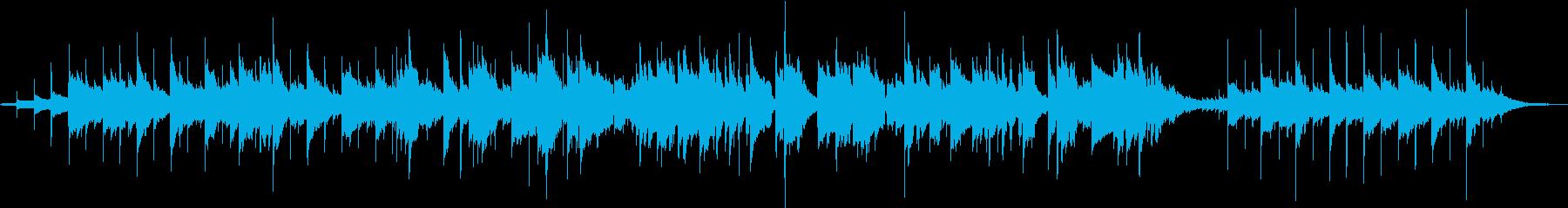 アコーステックギターの切ないBGMの再生済みの波形
