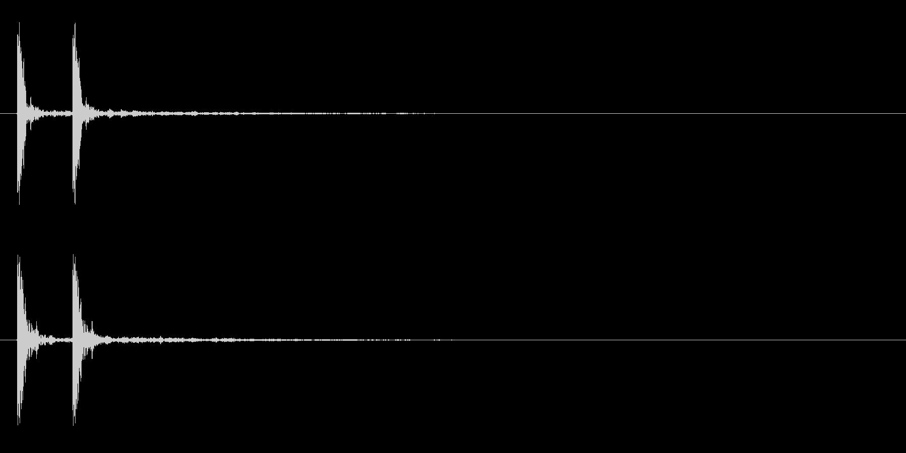 「カカン」木鉦(もくしょう)連打音+FXの未再生の波形