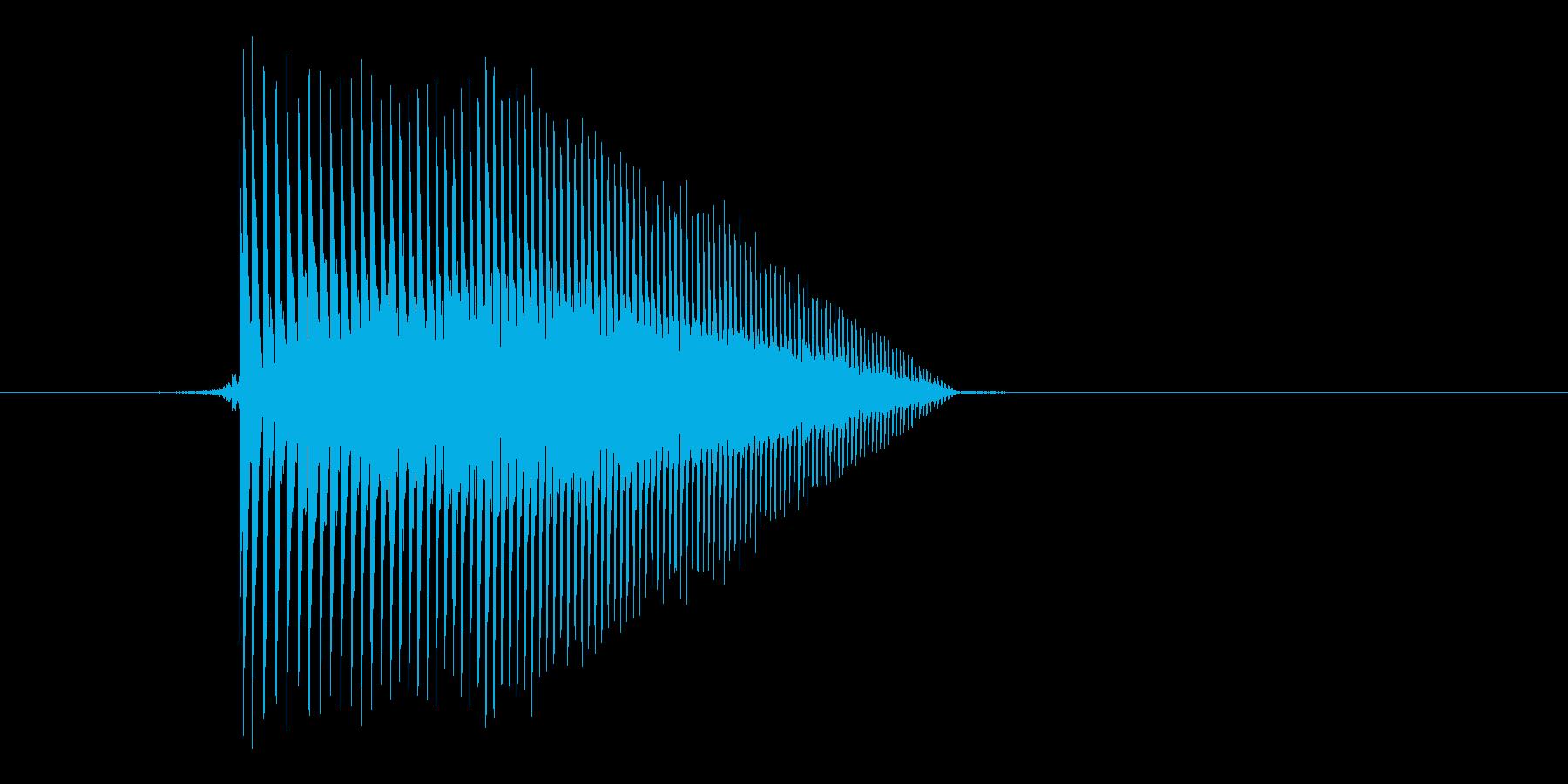 ゲーム(ファミコン風)ジャンプ音_003の再生済みの波形