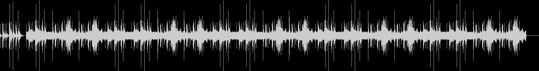 不気味なオルゴールのホラーbgmの未再生の波形