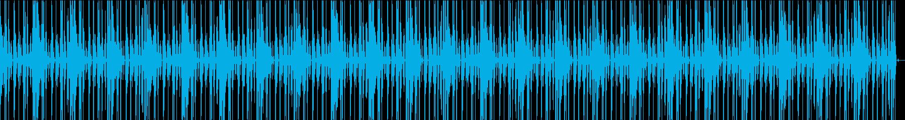 EDMなBGM004跳ねたリズムの再生済みの波形