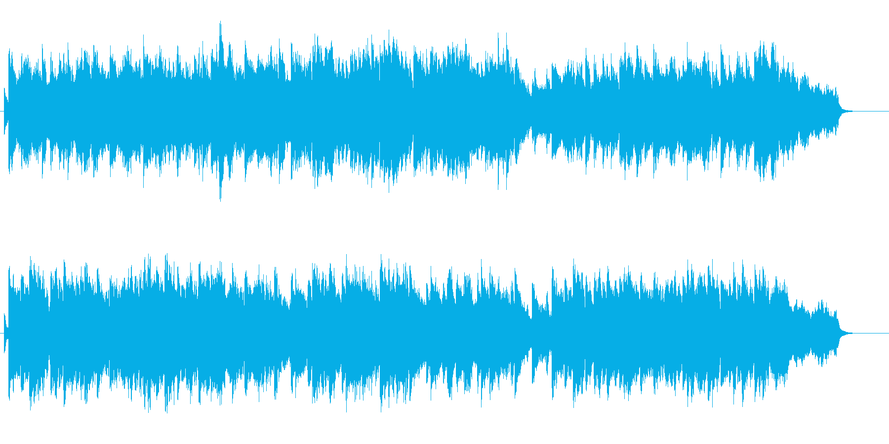 日常的で穏やかな雰囲気のBGMの再生済みの波形