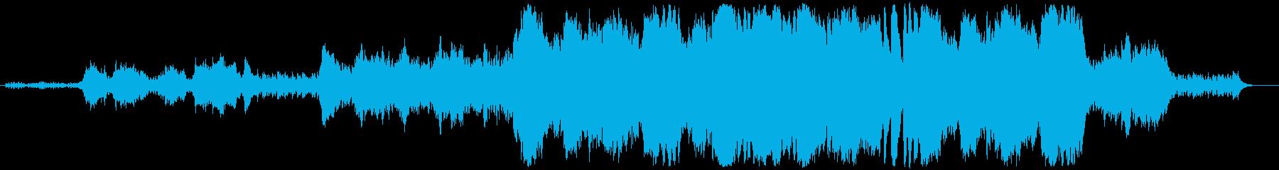 緊迫感のあるフルオーケストラBGMの再生済みの波形