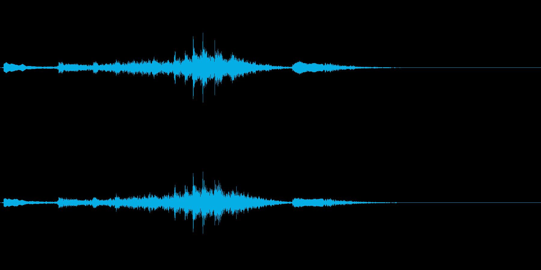 生演奏 琵琶 和風 古典風 残響有#7の再生済みの波形