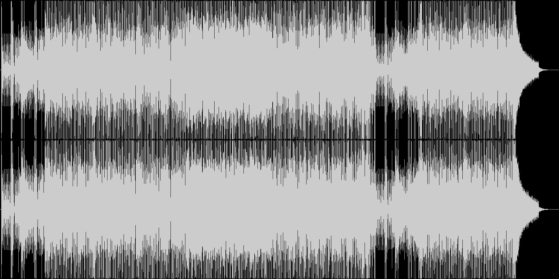 夏空の軽やかなポップスの未再生の波形