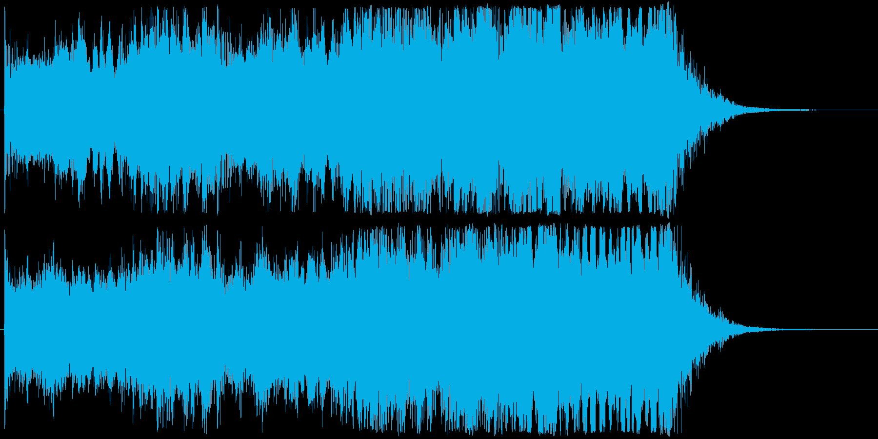 映画OPのようなオーケストラ系ジングルの再生済みの波形