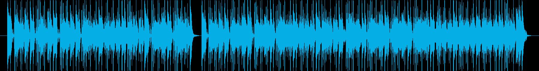 軽快なビートのオルガンとギターロックの再生済みの波形