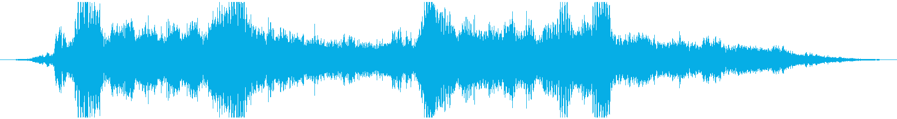 神秘的なところに潜る音の再生済みの波形