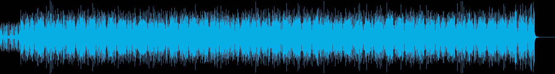 テレビの背景音楽の再生済みの波形