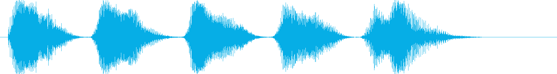 カァカァカァ(カラスの鳴き声)擬音5連発の再生済みの波形