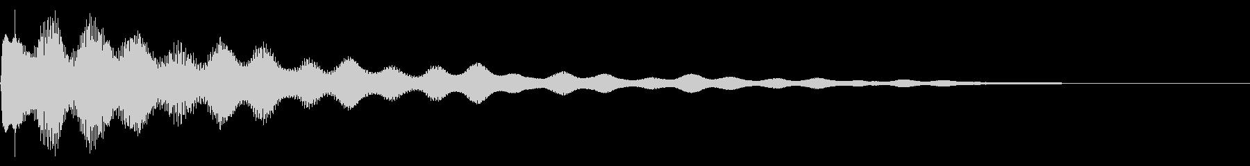 サスペンス風なギター音です。の未再生の波形