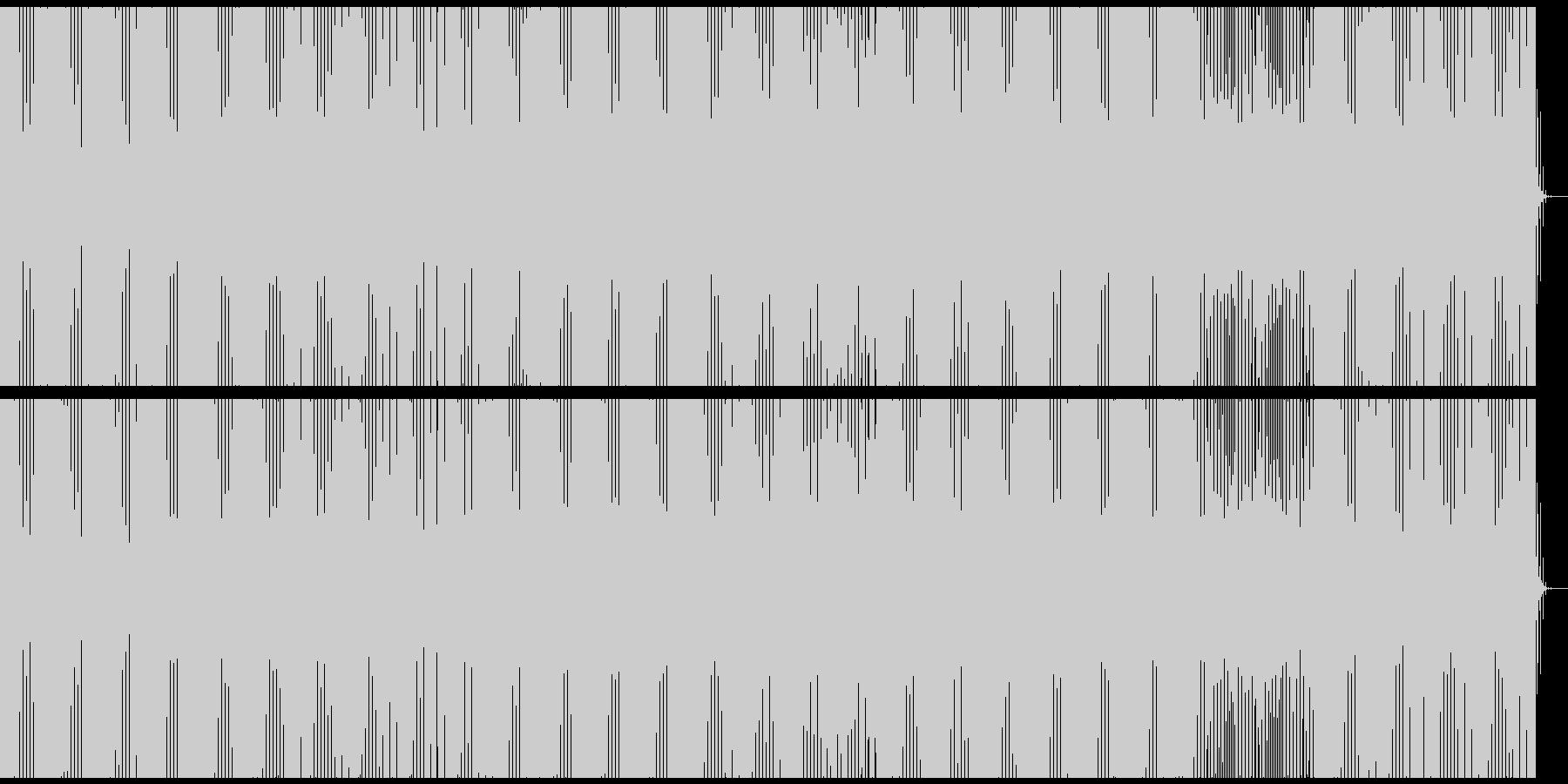 美しいディープミニマルダブハウスの未再生の波形