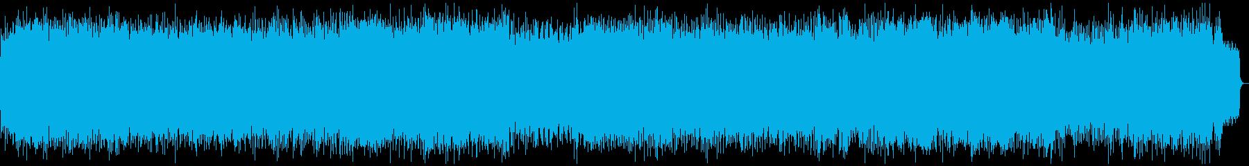 テンポの速いシンセリードの緊迫したメタルの再生済みの波形