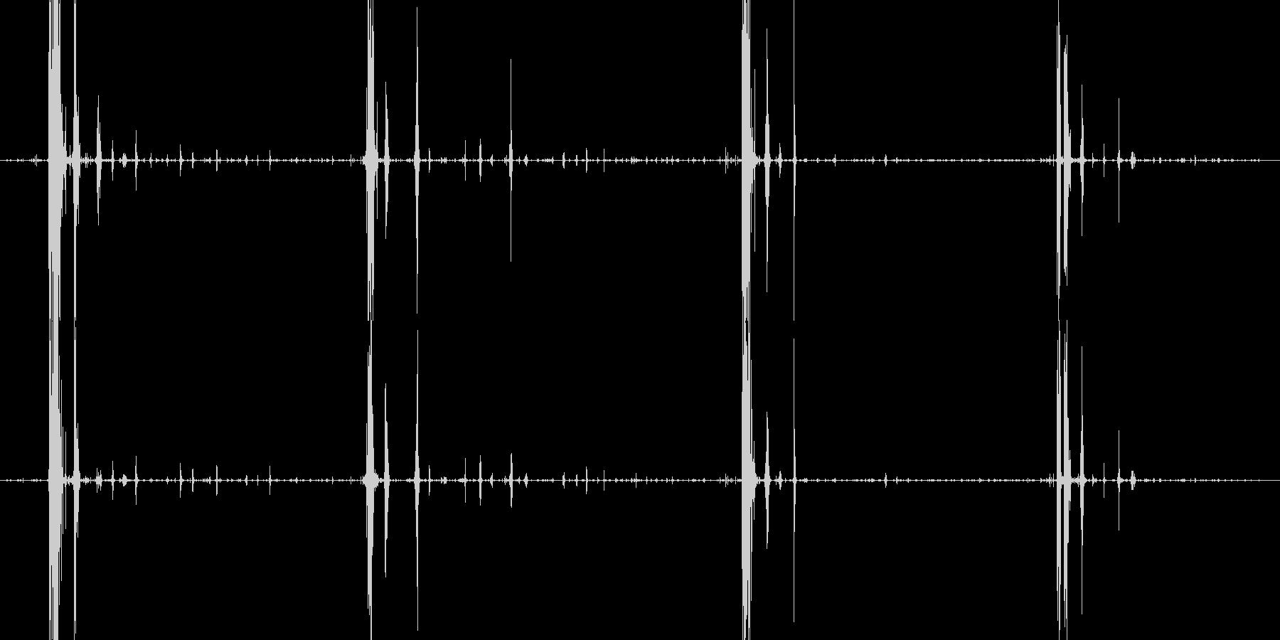 サクサクチキン食べる音サクサクカリカリの未再生の波形
