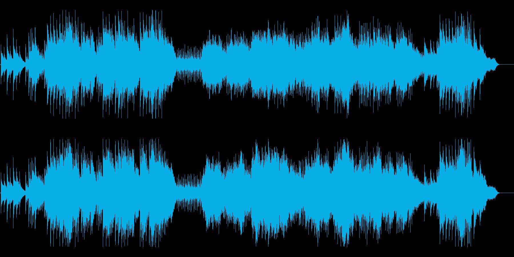 優しく広がりのある癒しのBGMの再生済みの波形