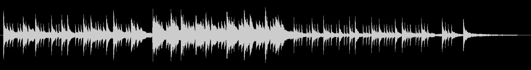 ピアノソロによるグレゴリオ聖歌の未再生の波形
