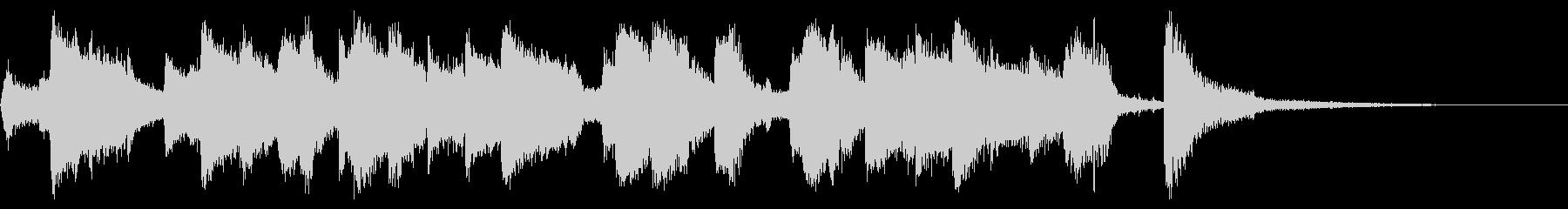 ビッグバンドジャズのBGM2の未再生の波形
