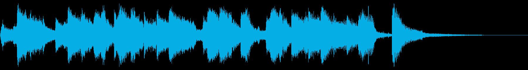 ビッグバンドジャズのBGM2の再生済みの波形