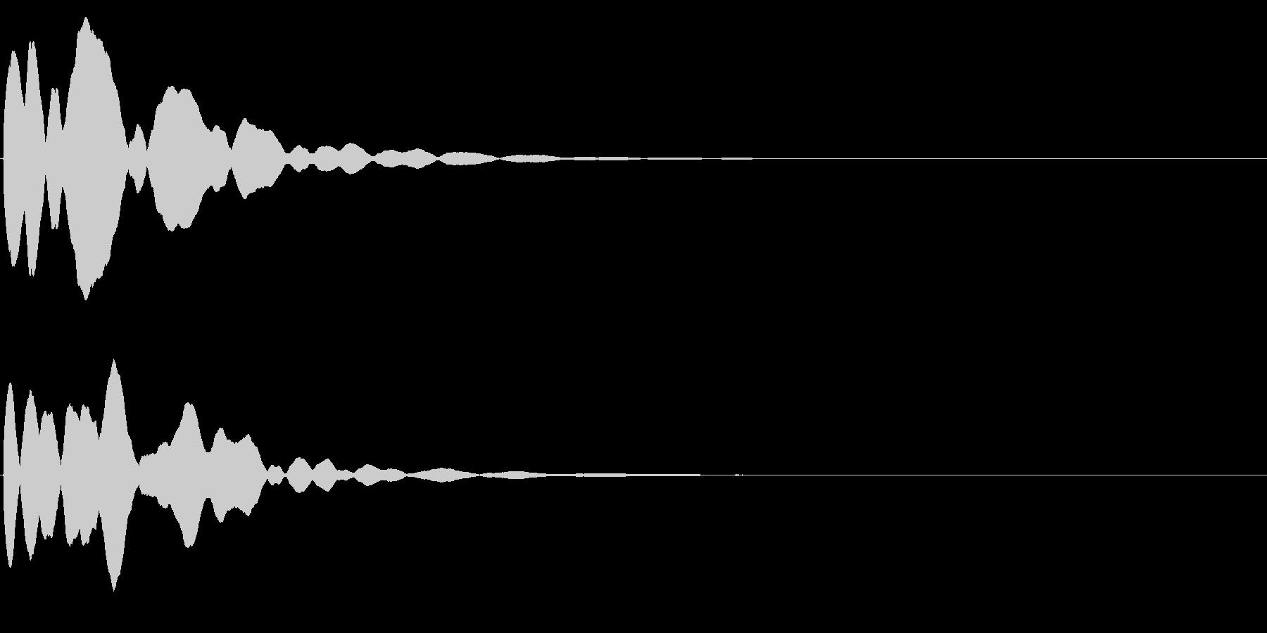 ゲームスタート、決定、ボタン音-164の未再生の波形