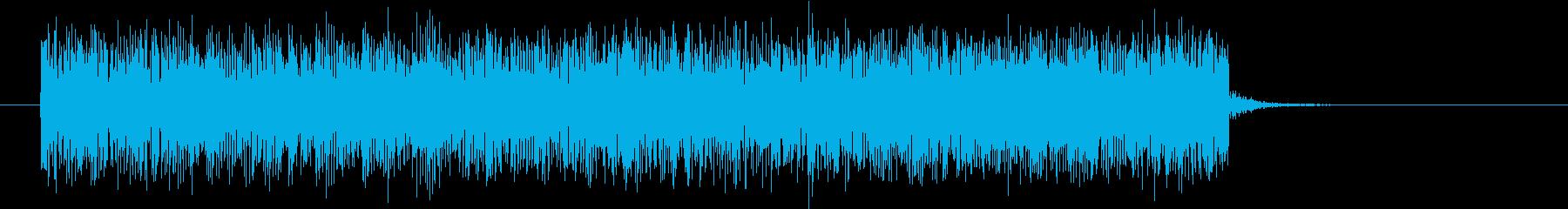 A light, near-future techno pop jingle's reproduced waveform