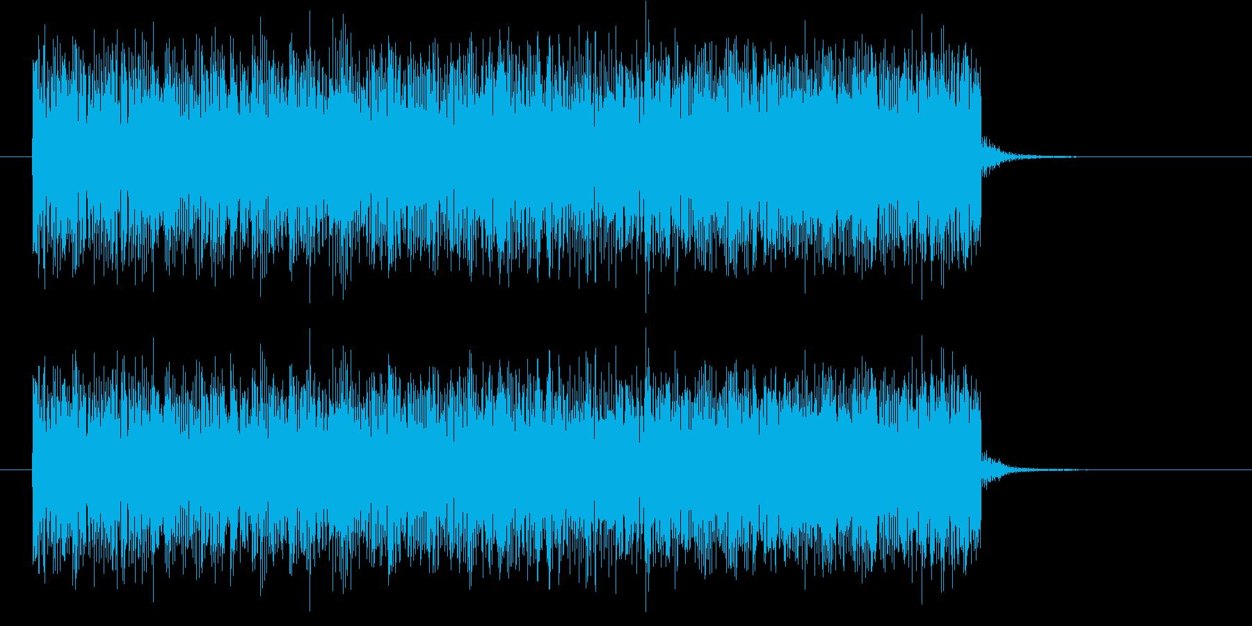 軽快で近未来感あるテクノポップジングルの再生済みの波形
