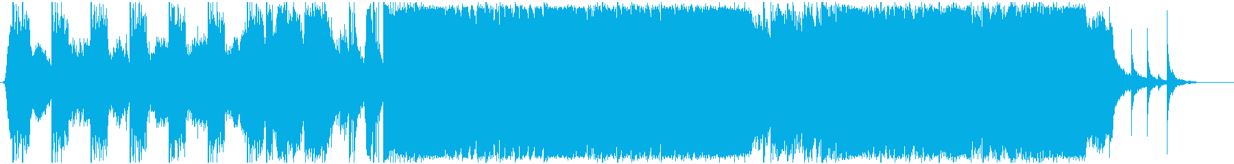 ハイブリッドなパイレーツトレーラーBGMの再生済みの波形
