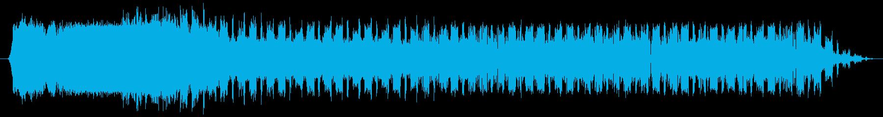 素材 Sci Fiのうねりの進化02の再生済みの波形