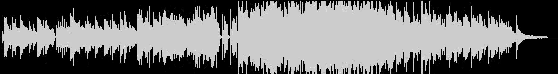 ピアノとストリングスを使用した感動的な曲の未再生の波形