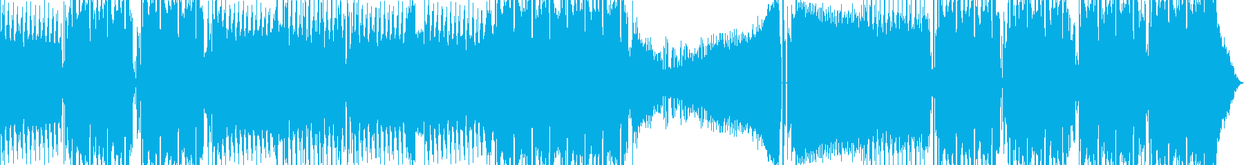 SFに合う激しめテクノミュージックの再生済みの波形