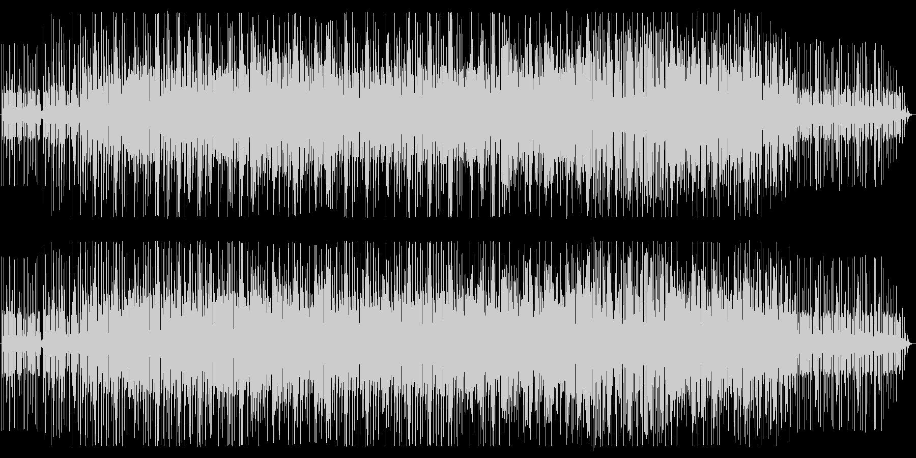 エレキギターの陽気なアフリカンビートの未再生の波形