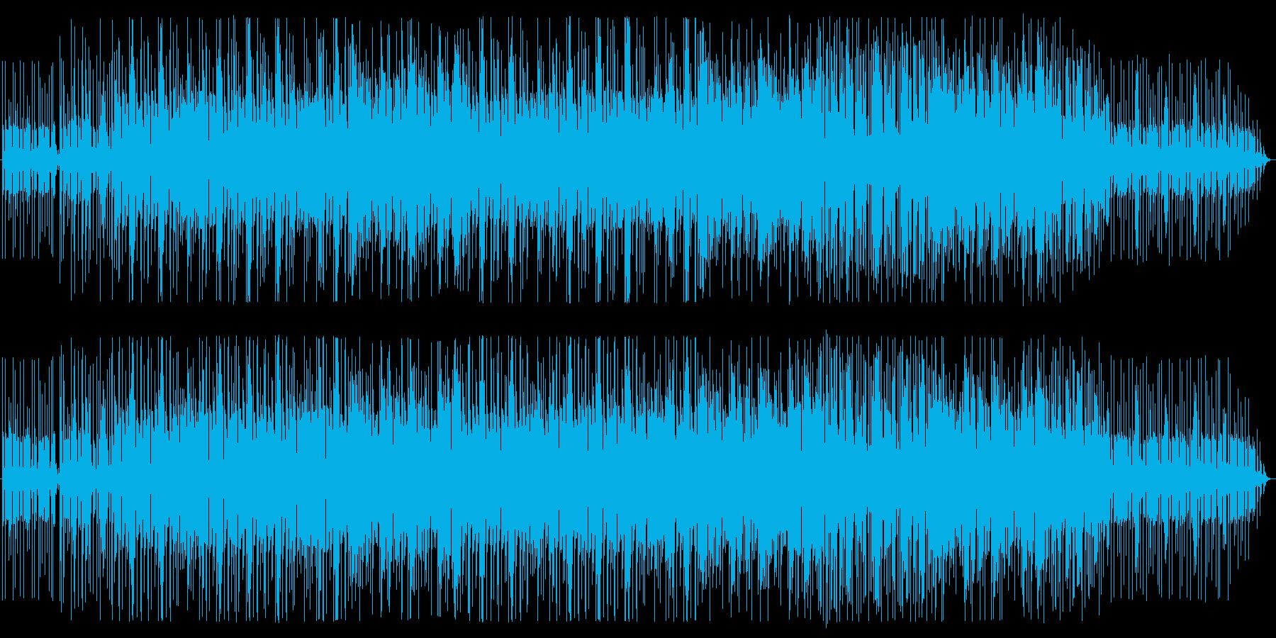 エレキギターの陽気なアフリカンビートの再生済みの波形