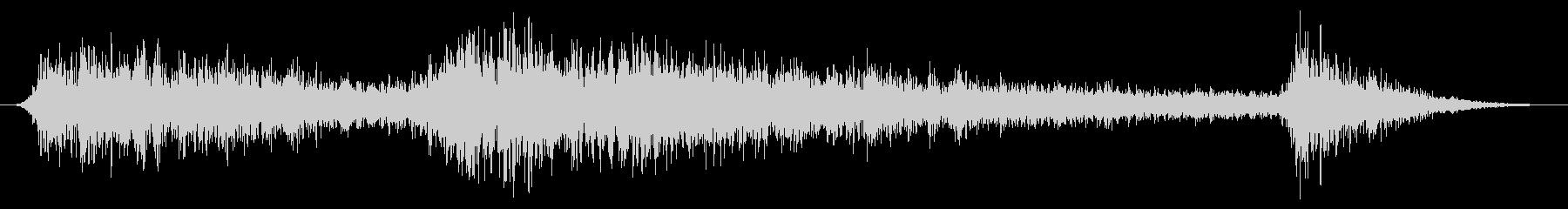 雨の音04(雷雨)の未再生の波形