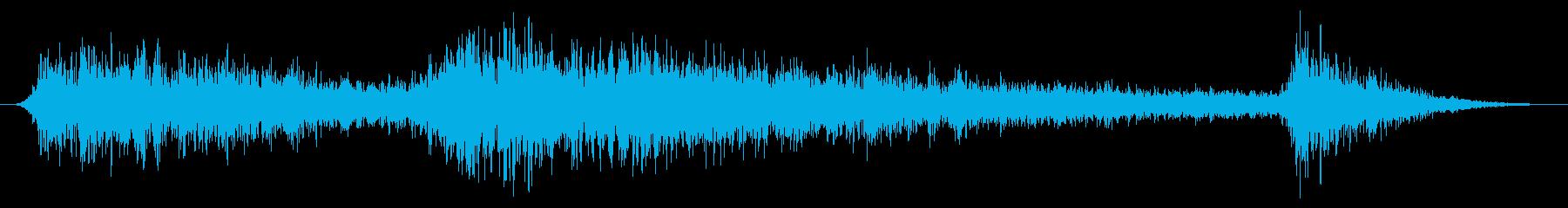 雨の音04(雷雨)の再生済みの波形