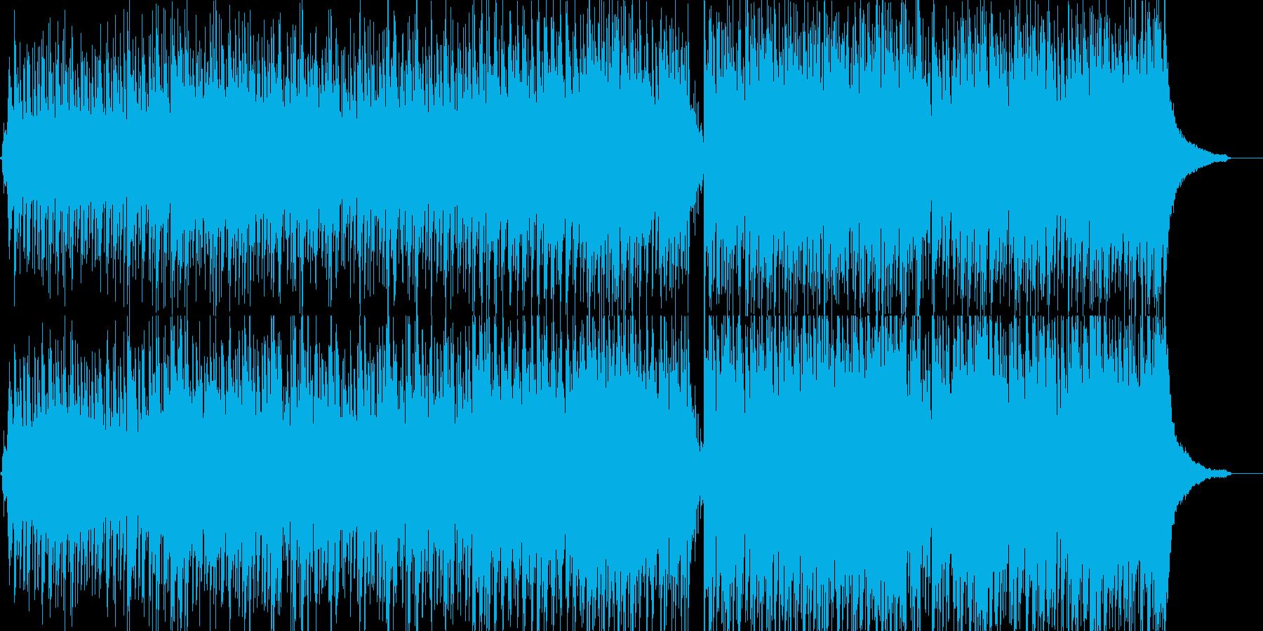 アコギとピアノのポップスの再生済みの波形